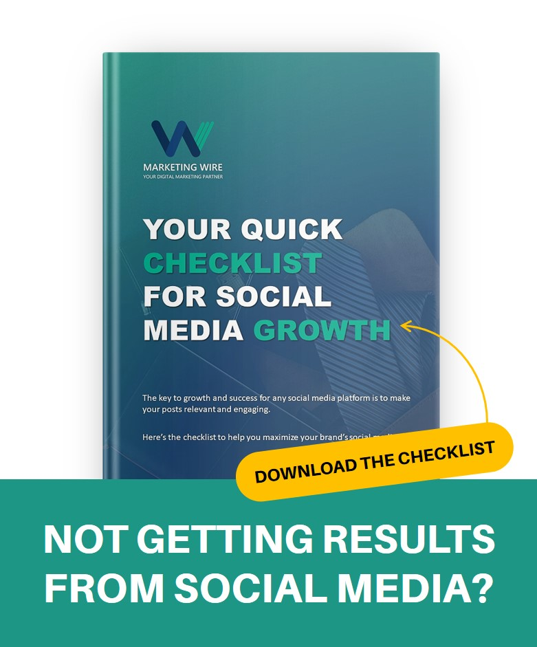Download social media checklist Marketing wire
